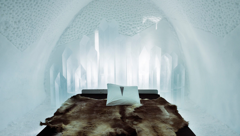 Ice hotel, North of Sweden