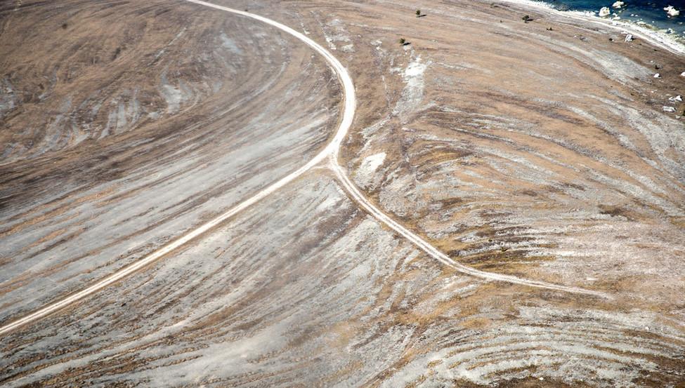 Roads on Gotland Sweden