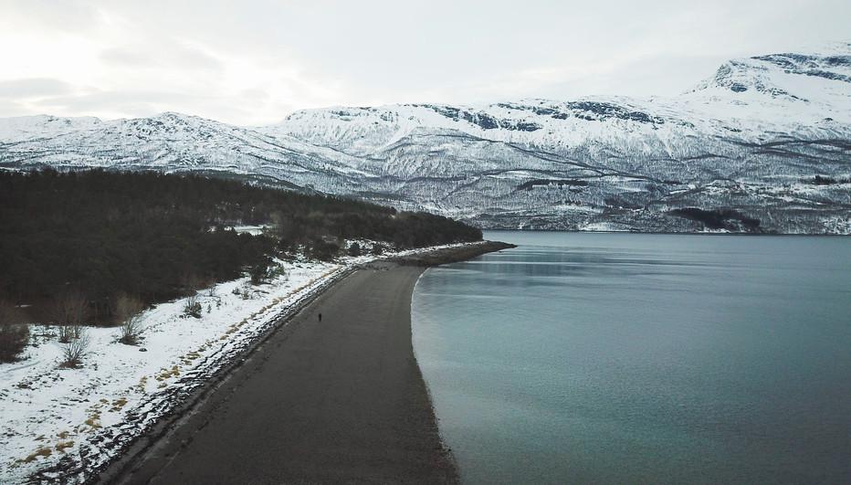 Mountain and lake, Swedish lappland