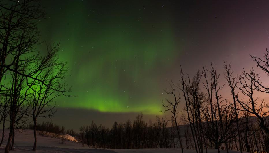 Nordic light, north of Sweden