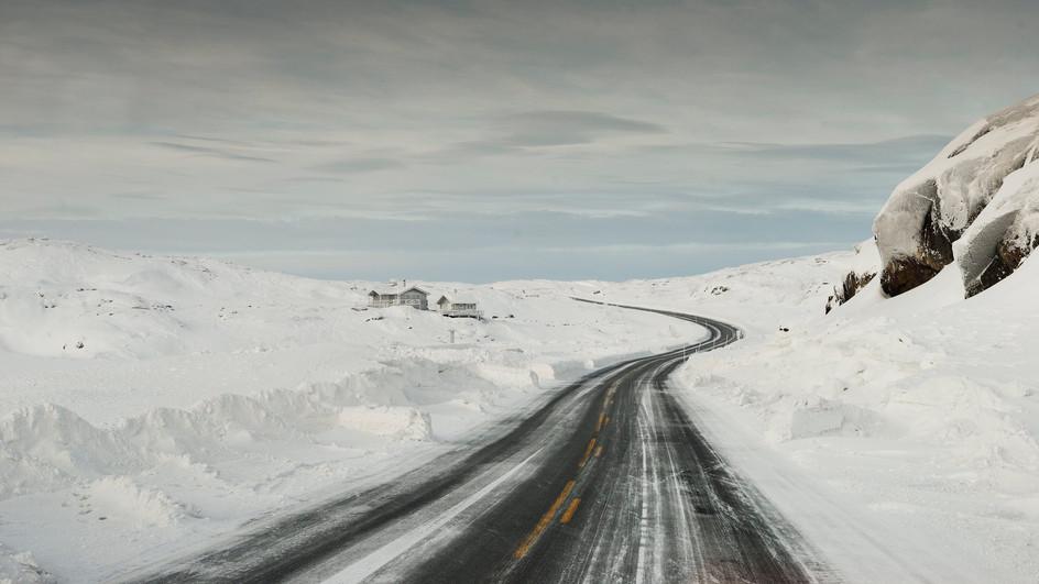 road, north of Sweden