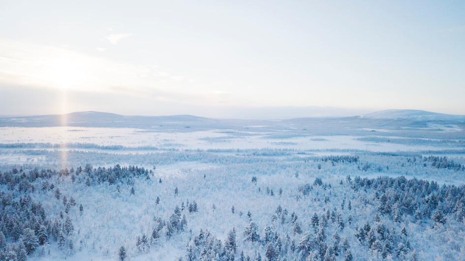 Nature, north of Sweden
