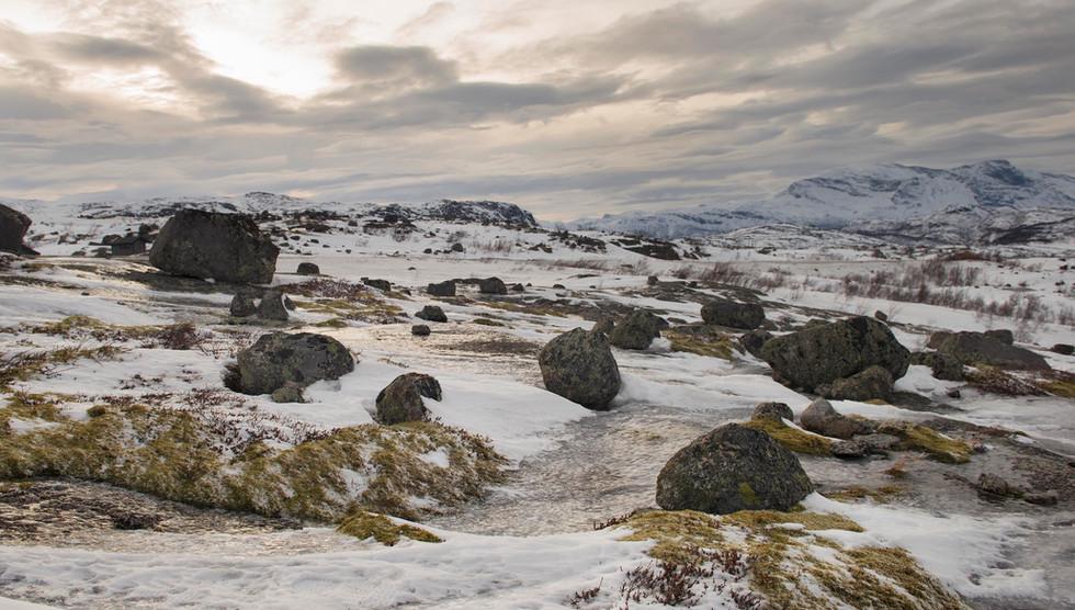 rocky landscape, north Sweden