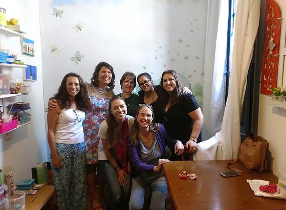 Turma do  curso o poder curativo das histórias Casa Pirilampo- Petrópolis - RJ