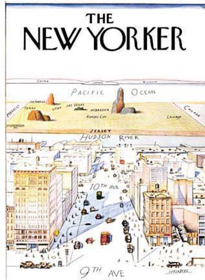 Saul Steinberg's Cover Art for the New Yorker Magazine,Photo Credit: The New Yorker Magazine