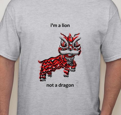 Michelle's lion t-shirt design