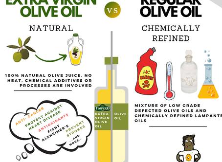 Olio Extra Vergine e Olio d'Oliva: qual è la differenza?