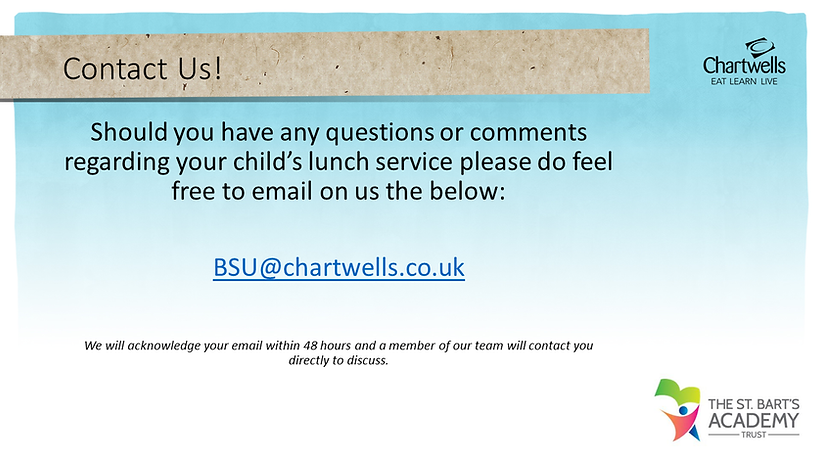 St Bart's Academy Trust - Chartwells Con