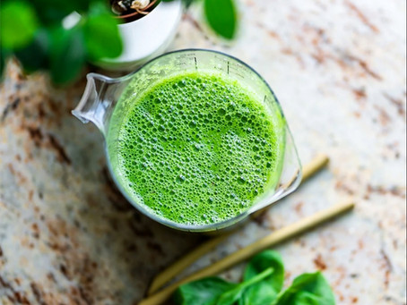 Nurture and Balance. A Fresh 'Gut Healing' Green Smoothie to start your day.