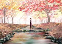 「秋に浸って」