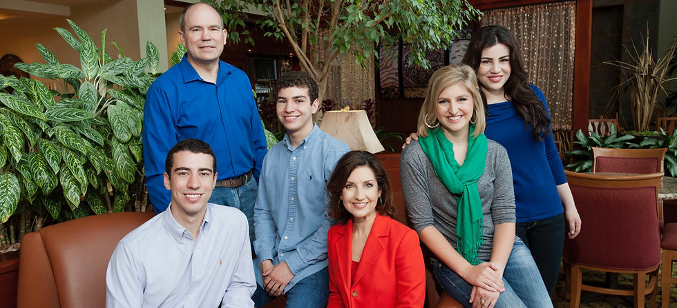 Joy Hofmeister with husband and children.