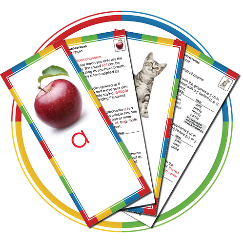 Phoneme/Grapheme Cards – Teacher's Instructional Set