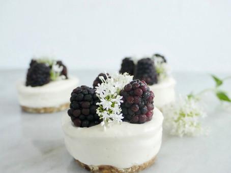 No Bake Blackberry Lemon Cheesecake