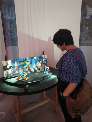 A visitor looking at Tableau 6