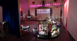 View of the installation showing tableau 12 in the foreground.