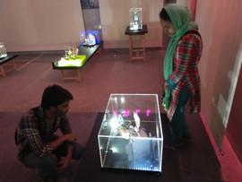 Visitors looking at tableau 11