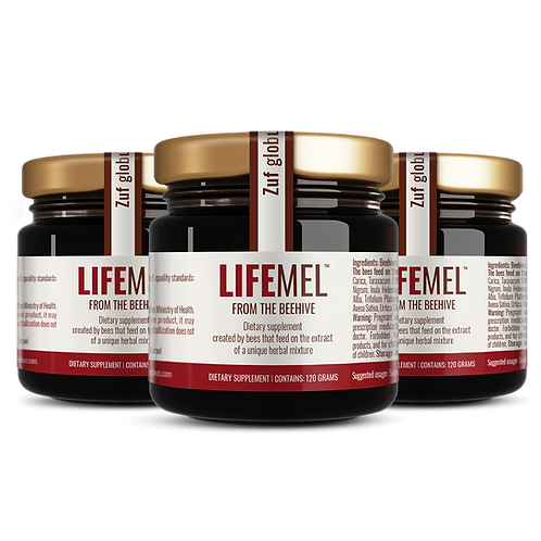 3 Pack LIFEMEL | CHEMO and RADIATION SIDE EFFECTS SUPPORT HONEY | 3X120 ml