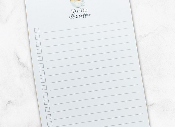 To-Do After Coffee Notepad