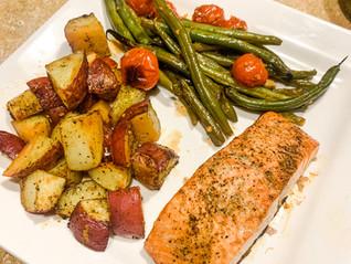 Honey Balsamic Salmon & Veggies