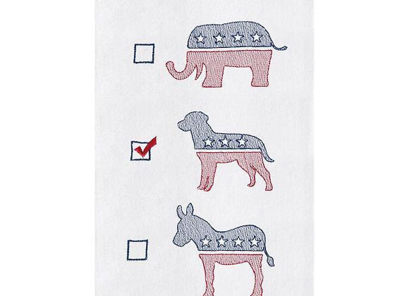 Dog Political Party- Tea Towel