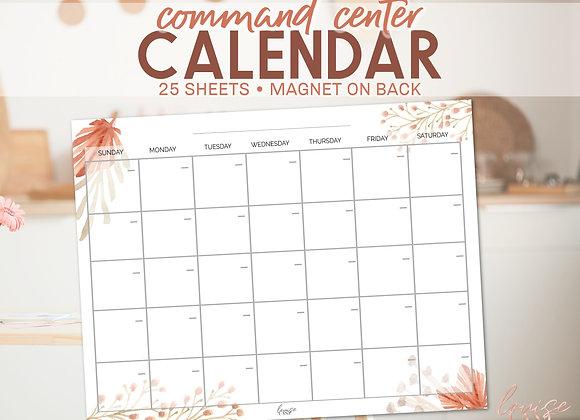Command Center Calendar Notepad- Desert Floral
