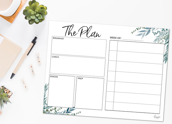 Large Meal Planner Notepad