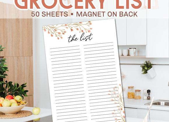 Grocery List Notepad- Desert Floral