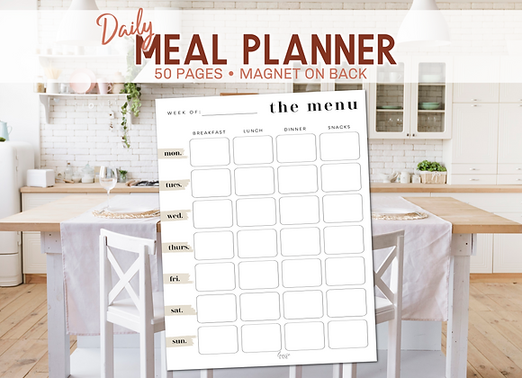 Daily Meal Planner - Plain Lane