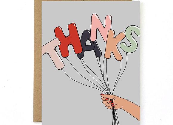 Thank You Card- Balloons