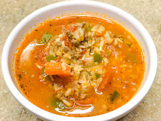 Italian Pepper & Rice Soup
