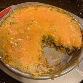 CREAMY GREEN CHILI ENCHILADA BAKE