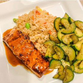 Air Fryer Glazed Salmon