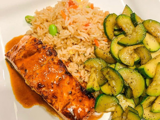 Air Fryer Glazed Salmon