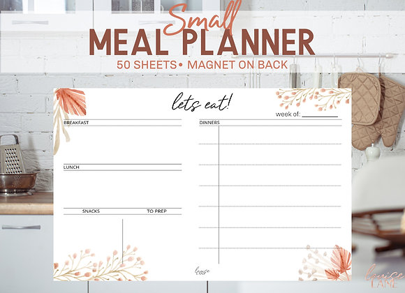 Small Meal Planner Notepad- Desert Floral