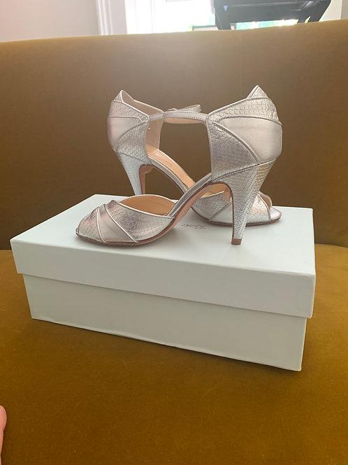 Rachel Simpson Shoes - Gigi Silver Snake Leather