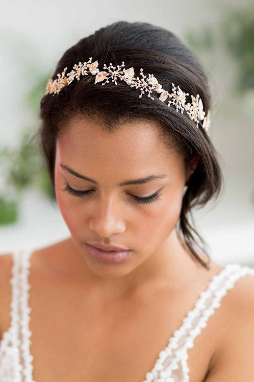 Sienna Gold Rhinestone Bridal Hair Vine