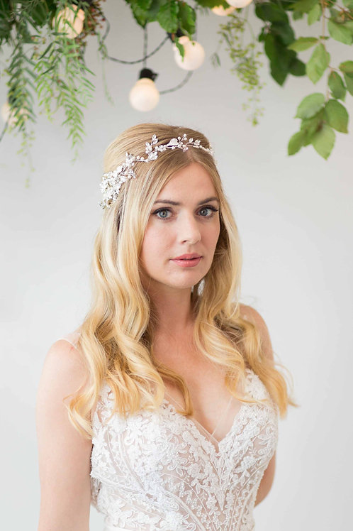 Mira Silver Rhinestone Wedding Headpiece
