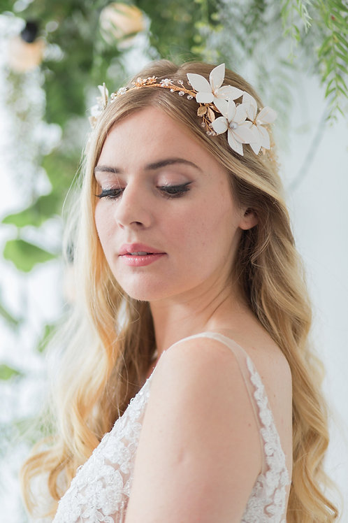 Esther Statement Gold Bridal Crown