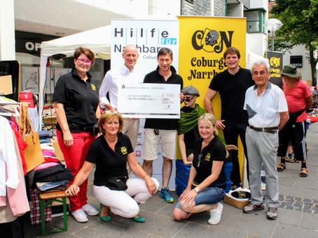 Coburger Narrhalla übergibt Spende  über 1.111 Euro