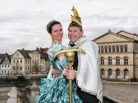 Das neue Prinzenpaar der Coburger Narrhalla 2018