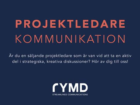 Säljande projektledare till Rymd – start till hösten!