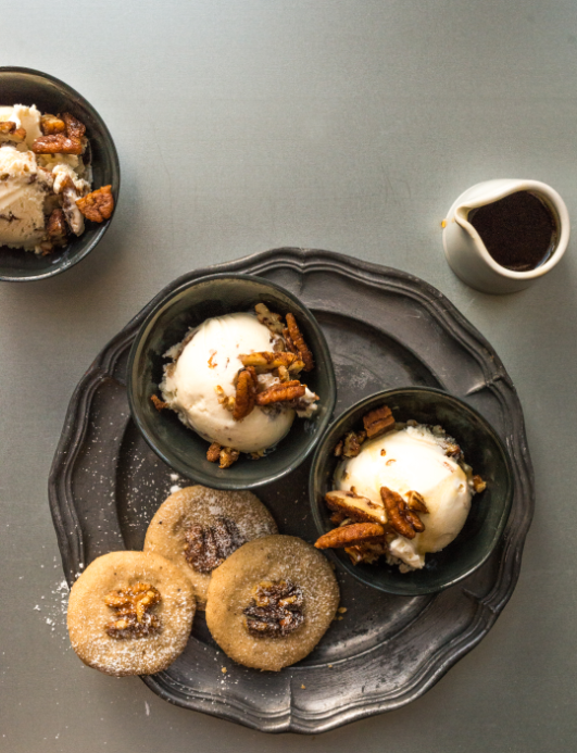 bourbon bread pudding ice cream dessert