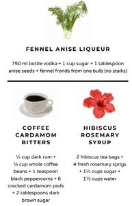 Sous vide cocktails liquor alcohol ingredients