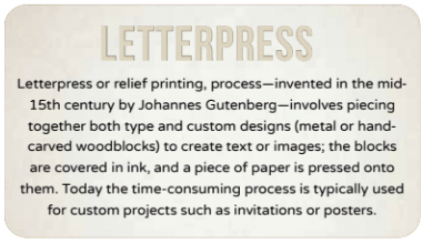 The history of letterpress