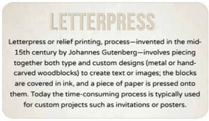 The history of letterpress