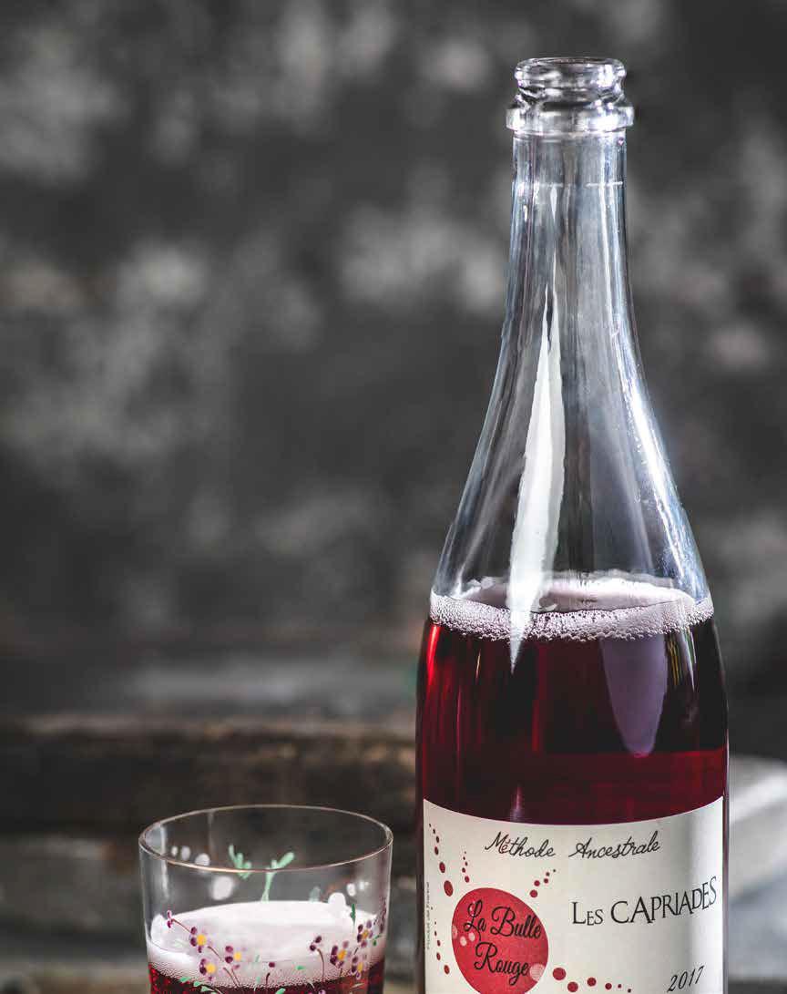 A bottle of pet-nat wine