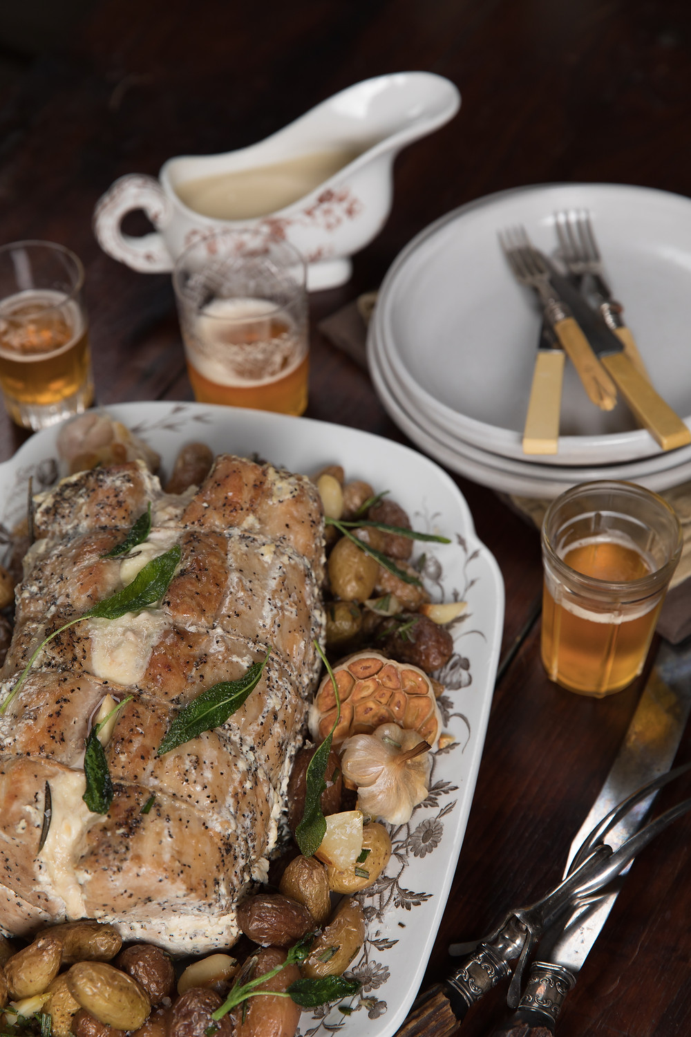 Here's a STUFFED ITALIAN-BRAISED PORK ROAST recipe that goes great with a Goose Island Craft Beer