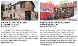 Awesome live music venues from New Orleans Louisiana and Williamsburg Brooklyn