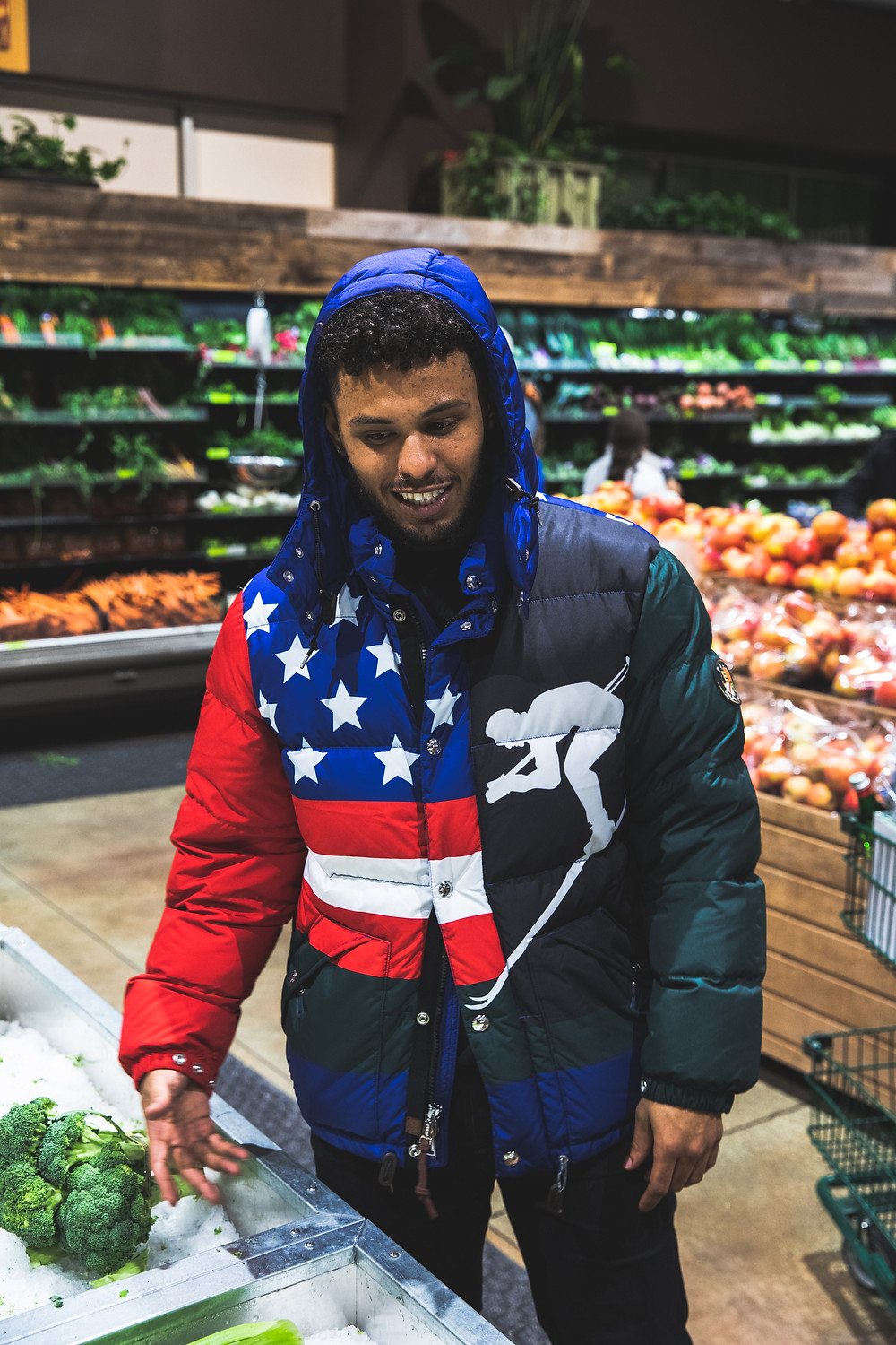 Chicago rapper Joey Purp at Whole Foods