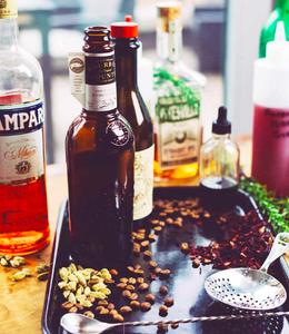 Sous vide cocktails liquor alcohol